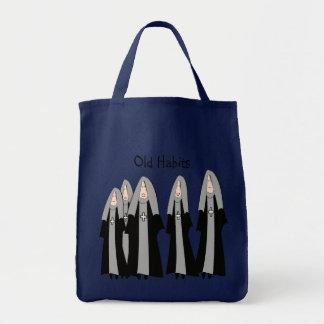 "Nuns ""Old Habits"" Hilarious Nun Gifts Tote Bag"