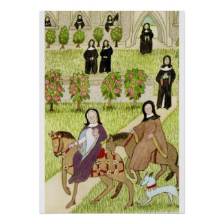 Nuns on a pilgrimage to Canterbury Poster