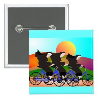 Nuns on Bicycles Art Gifts Pinback Buttons