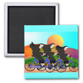 Nuns on Bicycles Art Gifts Magnet