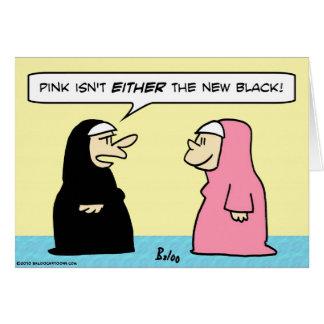 nuns pink new black card