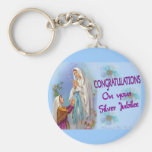Nuns Silver Jubilee Gifts and Cards Basic Round Button Keychain