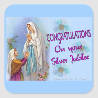 Nuns Silver Jubilee Gifts and Cards Square Sticker