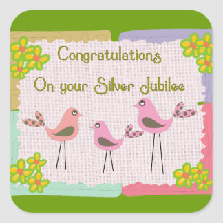Nuns Silver Jubilee Gifts Square Sticker