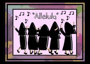 Nuns silver jubilee cards zazzle nuns singing alleluia note cards m4hsunfo