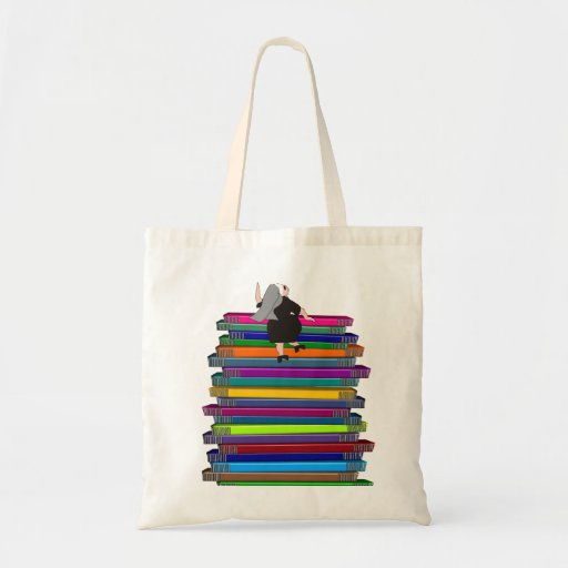 Nuns Stack of Books Artsy Tote Bag