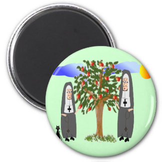 Nuns Stealing Apples Cards & Gifts Magnet