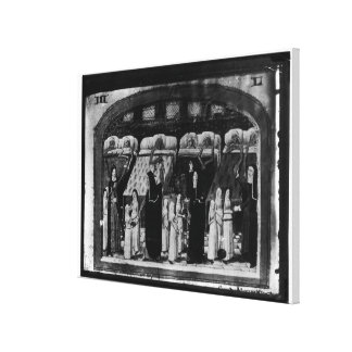 Nuns tending the sick at the Hotel Dieu Gallery Wrap Canvas