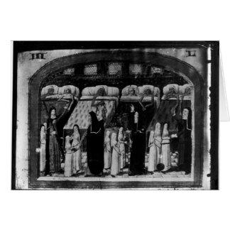 Nuns tending the sick at the Hotel Dieu Card
