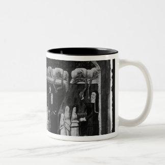 Nuns tending the sick at the Hotel Dieu Two-Tone Coffee Mug