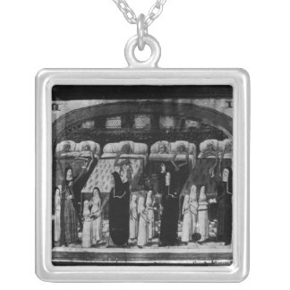 Nuns tending the sick at the Hotel Dieu Personalized Necklace