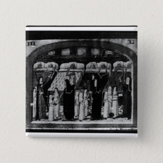 Nuns tending the sick at the Hotel Dieu Pinback Button