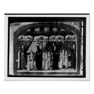 Nuns tending the sick at the Hotel Dieu Poster