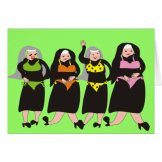 Nuns Wearing Bikinis Greeting Card