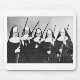 Nuns With Guns Mouse Pad