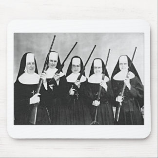 Nuns With Guns Mouse Pad