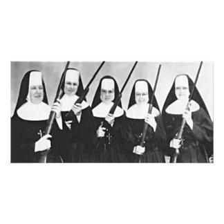 Nuns With Guns Photo Card