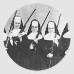 Nuns With Guns Round Stickers
