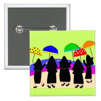 """Nuns With Umbrellas """"Expecting Rain"""" Button"""