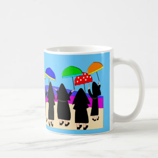 "Nuns With Umbrellas ""Expecting Rain"" Coffee Mug"