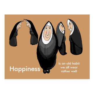 nunsense feliz postales