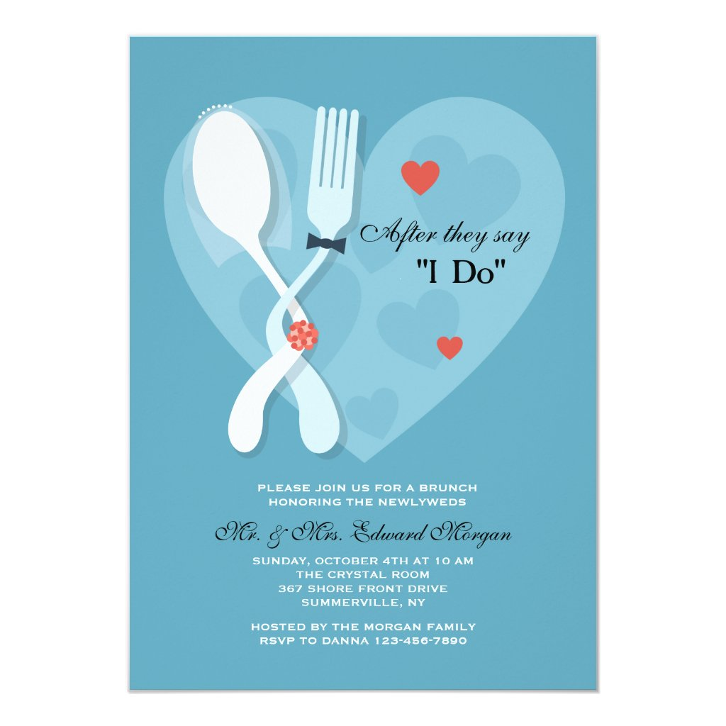 Nuptials Post Wedding Brunch Invitation
