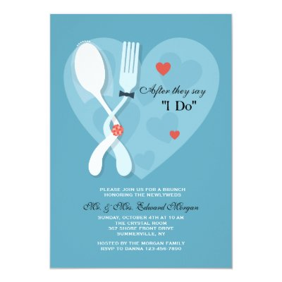 Spoon Fork Wedding Rehearsal Dinner Invitations Zazzle Com