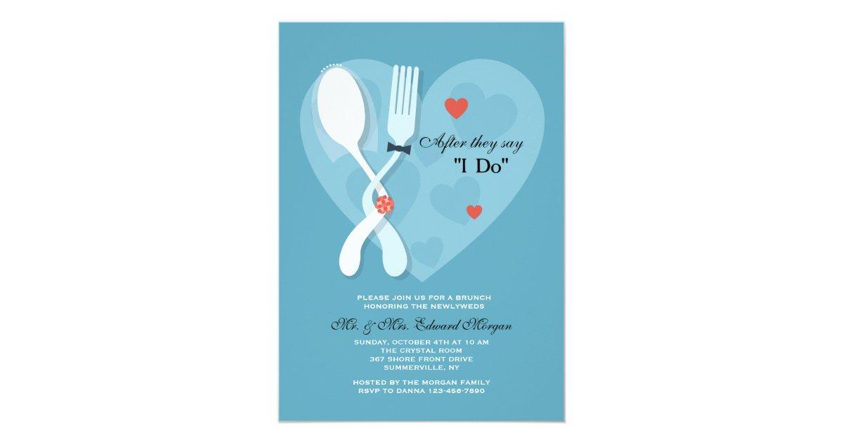 Post Wedding Brunch Invitation Wording: Nuptials Post Wedding Brunch Invitation