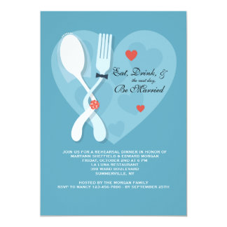 Nuptials Wedding Rehearsal Dinner Party Invitation