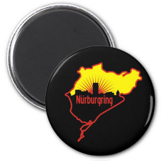 Nurburgring Nordschleife race track, Germany 2 Inch Round Magnet