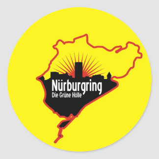 Nurburgring Nordschleife race track, Germany Classic Round Sticker