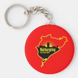 Nurburgring Nordschleife race track, Germany Keychain