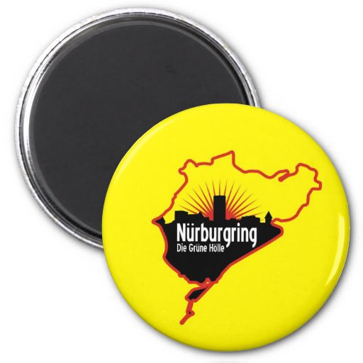 Nurburgring Nordschleife race track, Germany Magnets