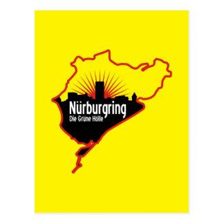 Nurburgring Nordschleife race track, Germany Postcard