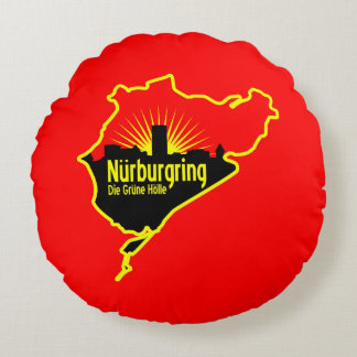 Nurburgring Nordschleife race track, Germany Round Pillow