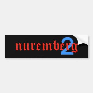 nuremberg2 bumper sticker