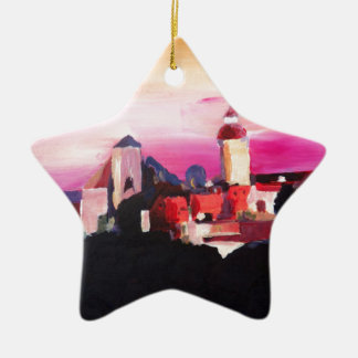 Nuremberg Castle at Dusk in Bavaria Germany Ceramic Ornament