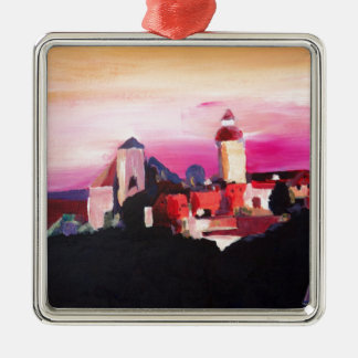 Nuremberg Castle at Dusk in Bavaria Germany Metal Ornament