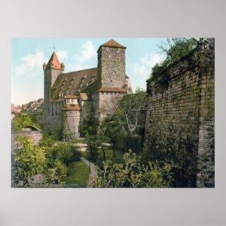 Nuremberg Castle print