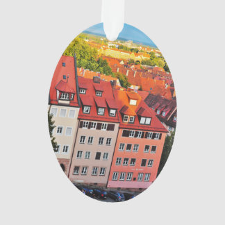 Nuremberg colorful houses ornament