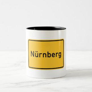 Nuremberg, Germany Road Sign Two-Tone Coffee Mug