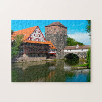 Nuremberg Old Town Germany. Jigsaw Puzzle