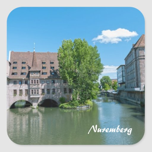 Nuremberg Square Sticker
