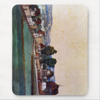Nuremberg, Suburb with a church Mouse Pad