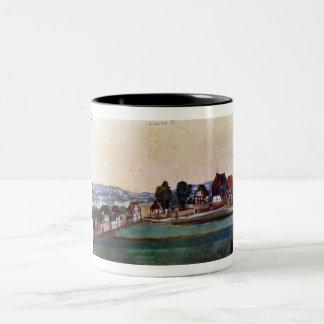 Nuremberg, Suburb with a church Two-Tone Coffee Mug