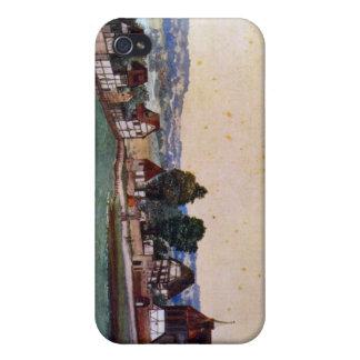 Nuremberg, suburbio con una iglesia iPhone 4 carcasa