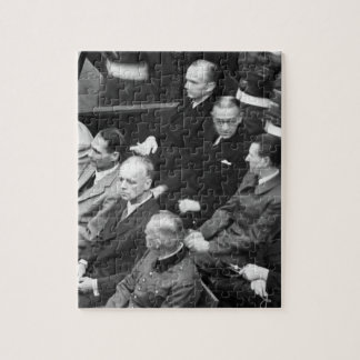 Nuremberg Trials.  Defendants in their_War Image Jigsaw Puzzle