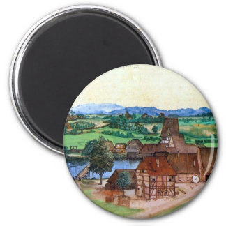 Nuremberg, wire-pullers at the mill Pegnitz 2 Inch Round Magnet