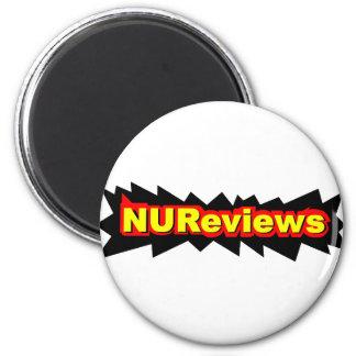 NUReviews Logo (No Subtitle) 2 Inch Round Magnet