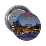 Nürnberg Christkindlesmarkt at Night Pinback Buttons
